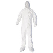 KLEENGUARD A40 Coverall w/ Hood and Boot Covers, Large, White (25/Case)