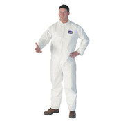 KLEENGUARD A40 Liquid & Particulate Protection Coveralls, White, Large (25/Case)