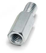 "1/2"" OD x 1-1/4"" L x 25-20 Thread Stainless Steel Male/Female Hex Standoff (50/Bulk Pkg.)"