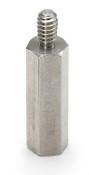"1/4"" OD x 1-1/4"" L x 6-32 Thread Aluminum Male/Female Hex Standoff, Plain (500/Pkg.)"