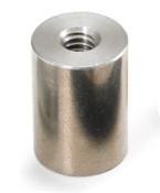 "1/4"" OD x 3/8"" L x 4-40 Thread Stainless Steel Female/Female Round Standoff (500 /Bulk Pkg.)"