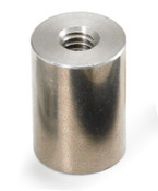 "1/4"" OD x 1/8"" L x 4-40 Thread Stainless Steel Female/Female Round Standoff (500 /Bulk Pkg.)"