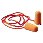 3M 1110 Foam Single-Use Earplugs, Corded, 29NRR, Orange (100 Pairs/Pkg.)