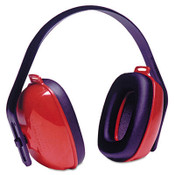 Three-Position Earmuffs, 24NRR, Red/Black (1 Pair)
