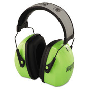 L3HV Hi-Visibility Earmuffs, Reflective Headband, 30NRR, Green/Black (1 Pair)