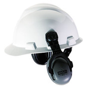 Mounted Earmuffs for Partial Brim Caps, 27NRR, Gray/Black (1 Pair)