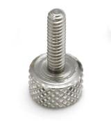 """#8-32x3/8"""" Knurled Thumb Screws, Aluminum (100/Bulk Pkg.)"""