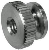 "10-24x1/2"" Round Knurled Thumb Nuts, Aluminum (100/Bulk Pkg.)"