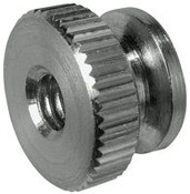 """6-32x3/8"""" Round Knurled Thumb Nuts, Stainless Steel (100/Bulk Pkg.)"""