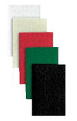 "Floor Pads for Squar Buff - 12"" x 24"" - White, Mercer Abrasives 4202WH (5/Pkg.)"