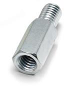 4.5 mm OD x 18 mm L x M2.5x.45 Thread Stainless Steel Male/Female Hex Standoff (125/Pkg.)
