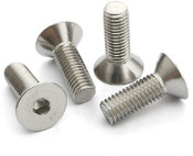 "#4-40x1/2"" Flat Head Cap Screw Stainless Steel 304 (ASME B18.3) (750/Pkg.)"