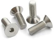 "1/4""-28x5/8"" Flat Head Cap Screw Stainless Steel 304 (ASME B18.3) (500/Pkg.)"
