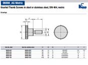 Kipp M4x20 Knurled Thumb Screw, DIN 464 (10/Pkg.), K0140.04X20