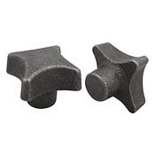 Kipp 100 mm Diameter, Palm Grip Knob, Gray Cast Iron, DIN 6335, Style A (1/Pkg.), K0147.120