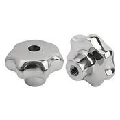 Kipp M12 Inside Diameter, 63 mm Diameter, Star Grip Knob, Stainless Steel, Style D (1/Pkg.), K0150.463122