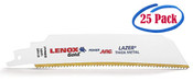 "Lenox Gold 9 x 1 x .042 Curved Reciprocating Saw Blades for Extreme Metal Cutting, 9"", 14 TPI (25/Bulk Pkg.)"