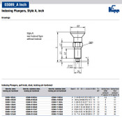 """Kipp 1/4""""-28 Indexing Plunger with Pull Knob, Steel, Locking Pin Hardened - Style A (1/Pkg.), K0338.1903AJ"""