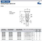 "Kipp 1/4""-28 Indexing Plunger with Pull Knob, Steel, Locking Pin Hardened - Style B (1/Pkg.), K0338.2903AJ"