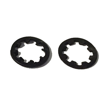 Top and bottom view of Internal Tooth Star Lock Washer
