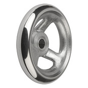 "Kipp 100 mm x .500"" ID 3-Spoke Handwheel without Machine Handle, Aluminum DIN 950 (1/Pkg.), K0160.0100XCP"