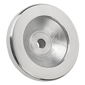 "Kipp 100 mm x .375"" ID Disc Handwheel without Handle, Aluminum Planed (1/Pkg.), K0161.0100XCO"