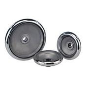 "Kipp 100 mm x .375"" ID Disc Handwheel without Handle, Aluminum DIN 950 (1/Pkg.), K0163.0100XCO"