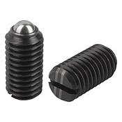 Kipp M16 Spring Plungers, Ball Style, Slotted, Steel, Heavy End Pressure (10/Pkg.), K0309.216
