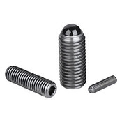 Kipp M12 Spring Plungers with Hexagon Socket and Ceramic Ball, Stainless Steel (1/Pkg.), K0610.12