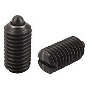Kipp M10 Spring Plungers, Pin Style, Slotted, Steel, Light End Pressure (25/Pkg.), K0313.110