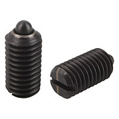 "Kipp 3/8""-16 Spring Plungers, Pin Style, Slotted, Steel, Light End Pressure (25/Pkg.), K0313.1A4"