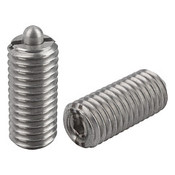 Kipp M8  Spring Plungers, Pin Style, Hexagon Socket, All Stainless Steel, Heavy End Pressure, (10/Pkg.), K0319.208