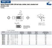 Kipp #6-32 Spring Plungers, LONG-LOK, Ball Style, Slotted, Steel, Standard End Pressure (10/Pkg.), K0321.AD