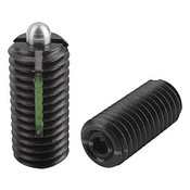 Kipp M8 Spring Plungers, LONG-LOK, Pin Style, Hexagon Socket, Steel, Light End Pressure (10/Pkg.), K0327.108