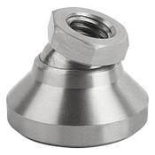 "Kipp 1/4""-20x20 mm Leveling Pads, Stainless Steel Pressure Foot & Ball Element (1/Pkg.), K0395.3A2"