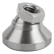 "Kipp 3/8""-16x32 mm Leveling Pads, Stainless Steel Pressure Foot & Ball Element (1/Pkg.), K0395.3A4"