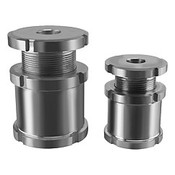 Kipp M20x1.0 Dia Height Adjustment Bolt with Counter-Nuts for M6 Screw, Stainless Steel (1/Pkg.), K0693.014061