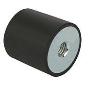 Kipp M6 x 25 mm (D) x 25 mm (OAL) Rubber-Metal Buffers, Galvanized Steel, Style C (1/Pkg.), K0569.02502555
