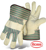 BOSS Economy Leather Palm Gloves (Dozen)