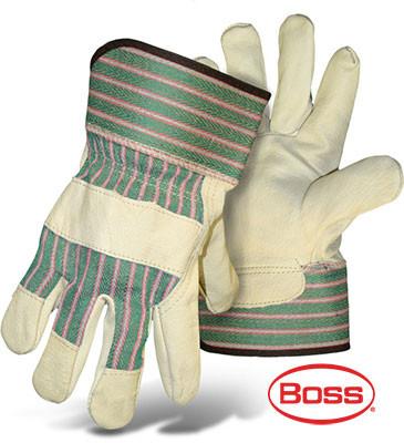 BOSS Economy Leather Palm Gloves (Dozen)