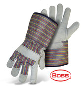 BOSS Gauntlet Cuff Leather Palm Gloves