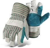 BOSS Double Leather Palm Safety Gloves (Dozen)