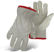 BOSS Unlined A-B Grade Grain Cowhide Safety Driver Gloves