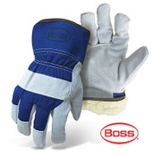 BOSS Pile Lined Cowhide Leather Palm Safety Gloves (Dozen)