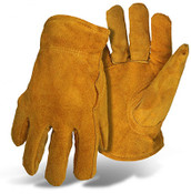 BOSS Split-Leather Driver Gloves, Pile Insulated