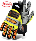 BOSS High-Vis, High-Impact Safety Gloves