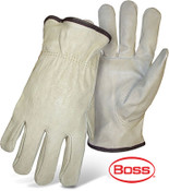 BOSS Thermal Lined Cowhide Leather Driver Safety Gloves