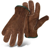 BOSS Unlined Cowhide Driver Safety Gloves, Smoke Brown
