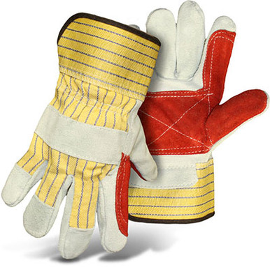 BOSS Double Leather Palm Driver Gloves, Reconditionable Cuff