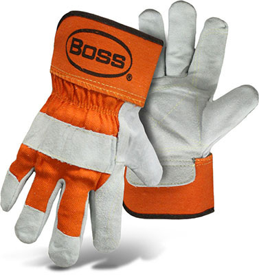 BOSS Orange Double Leather Palm Safety Gloves